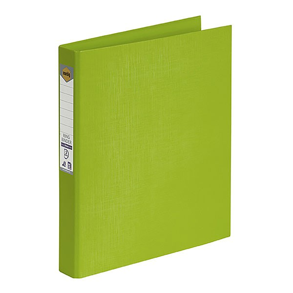 PE BINDER A4 2 RING 25mm LIME