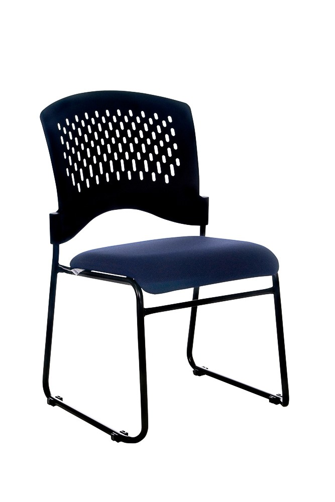 JUPITER STACKABLE VISITORS CHAIR NAVY SEAT  (price excludes gst)
