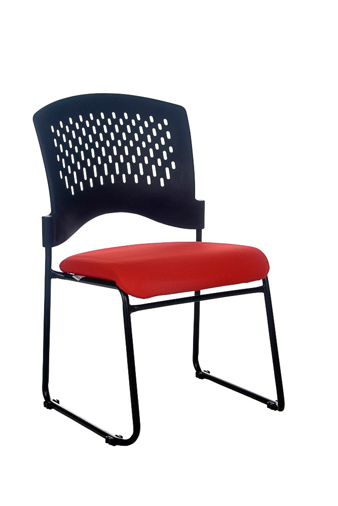 JUPITER STACKABLE VISITORS CHAIR RED SEAT  (price excludes gst)