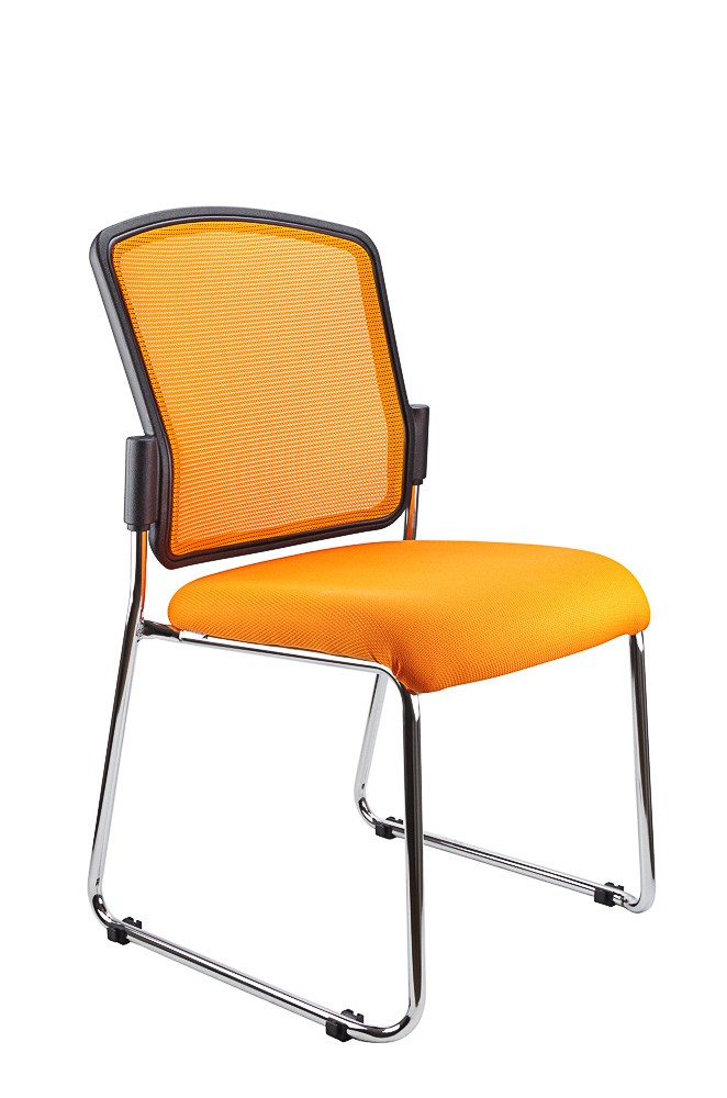 SPENCER STACKABLE VISITORS CHAIR ORANGE  (price excludes gst)