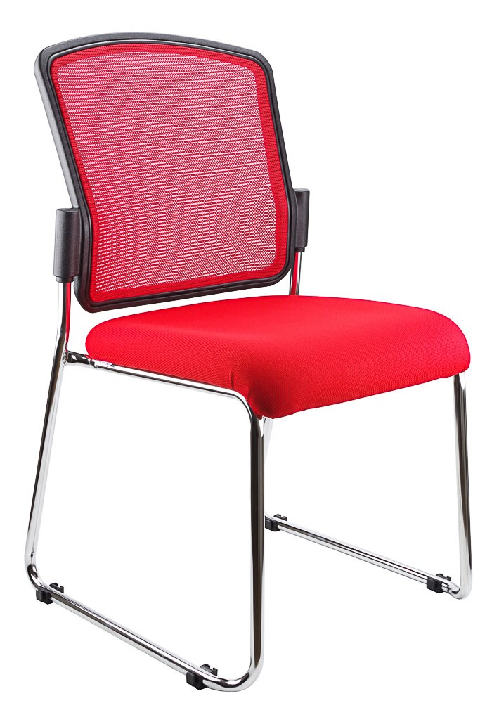 SPENCER STACKABLE VISITORS CHAIR RED  (price excludes gst)