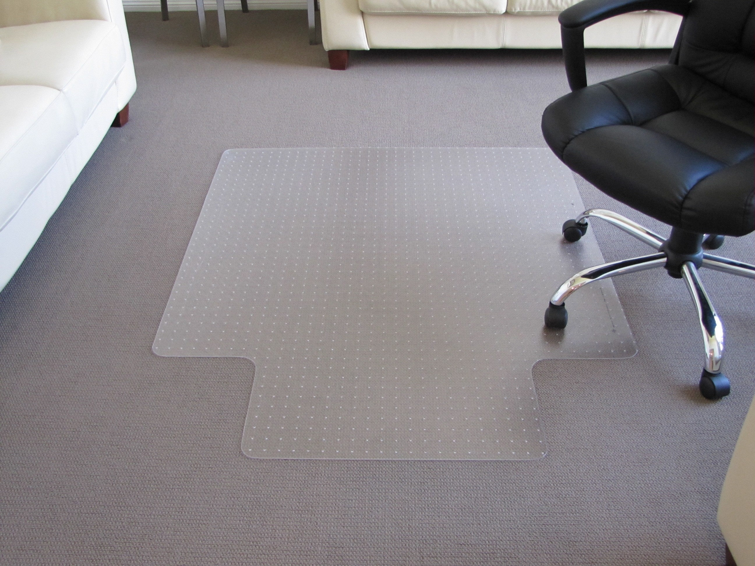 CHAIRMAT LOW PILE LARGE 1150mm x 1350mm KEYHOLE #AMP45G (price excludes gst)