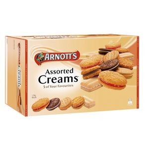 ARNOTTS CREAM ASSORTED BISCUITS 1.5KG - 3 x 500g Trays  (price excludes gst)