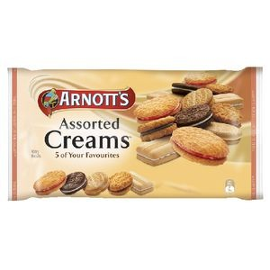 ARNOTTS CREAM ASSORTED BISCUITS 500g  (price excludes gst)