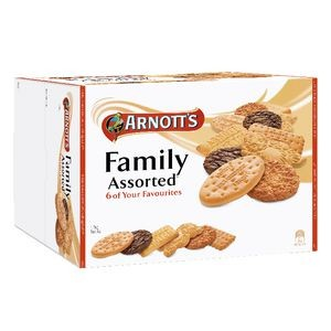 ARNOTTS FAMILY ASSORTED BISCUITS 1.5KG - 3 x 500g Trays  (price excludes gst)