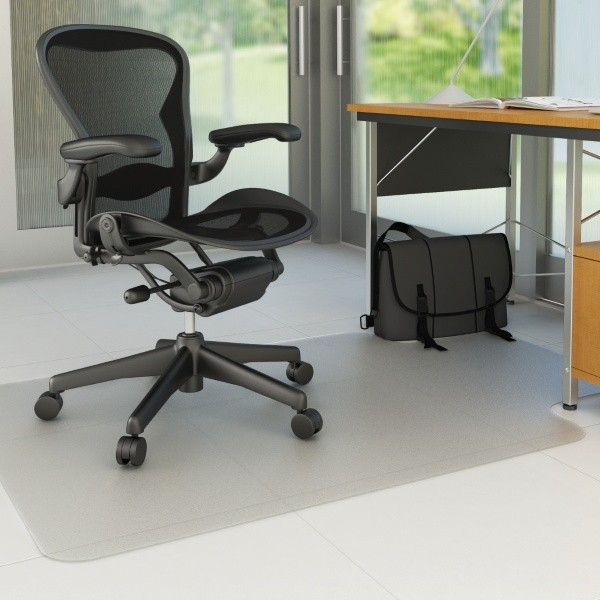 CHAIRMAT HARD FLOOR LARGE 1150mm x 1350mm KEYHOLE #AMH-45S (price excludes gst)