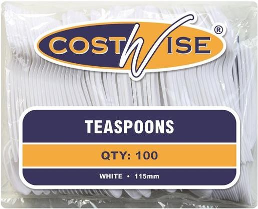 DISPOSABLE TEASPOONS PKT 100  (price excludes gst)