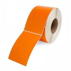 DIRECT THERMAL LABEL ROLL 100mm x 150mm ORANGE 76mm Core (500 Labels)