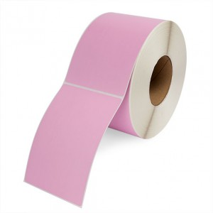 DIRECT THERMAL LABEL ROLL 100mm x 150mm PINK 76mm Core (500 Labels)