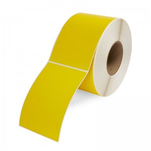 DIRECT THERMAL LABEL ROLL 100mm x 150mm YELLOW 76mm Core (500 Labels)