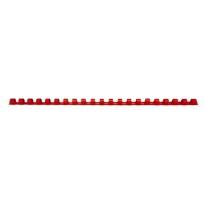 COMB BINDING COILS 12mm RED BOX 100 (price excludes gst)