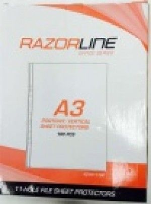 SHEET PROTECTOR RAZORLINE A3 PORTRAIT (PKT 25) #11700/25 (price excludes gst)