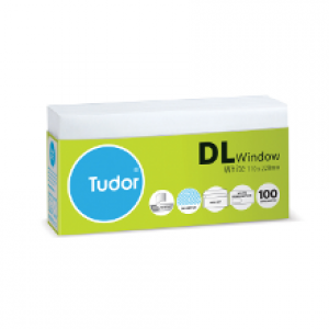 ENVELOPES DL 110mm x 220mm Window Faced Secretive Peel-n-Seal (Tray 100) 140020 (price excludes gst)