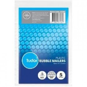 BUBBLE MAILER WHITE 151mm x 229mm Pack Of 5 (price excludes gst)