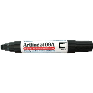 ARTLINE 5109A WHITEBOARD MARKER 10mm CHISEL NIB BLACK  (price excludes GST)