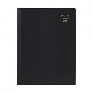 2020 COLLINS DEBDEN VANESSA SPIRAL DIARY 285 A5 2 DAYS TO A PAGE BLACK