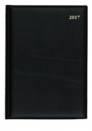 2021 COLLINS DEBDEN BELMONT PVC DIARY 187 A5 1 DAY TO A PAGE BLACK