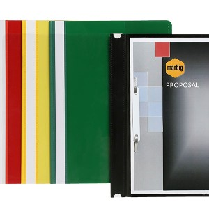 FLAT FILE A4 DELUXE CLEAR FRONT/YELLOW