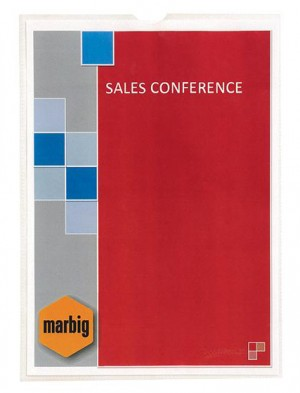 CARDHOLDER A4 MARBIG (PKT 10) #2006000 (price excludes gst)