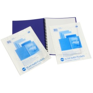 DISPLAY BOOK REFILL POCKET A4 PKT 10 (price excludes gst)