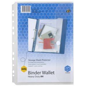 MARBIG BINDER WALLET A4 (PKT 10) #2015116 (price excludes gst)