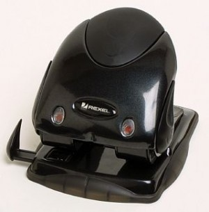 2 HOLE PUNCH REXEL PREMIUM (25 SHT) BLACK #2100745  (price excludes gst)