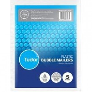 BUBBLE MAILER WHITE 215mm x 280mm Pack Of 5 (price excludes gst)