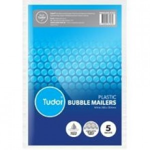 BUBBLE MAILER WHITE 266mm x 381mm Pack Of 5 (price excludes gst)