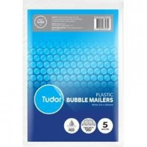 BUBBLE MAILER WHITE 241mm x 345mm Pack Of 5 (price excludes gst)