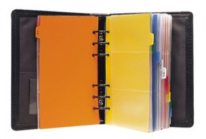 BUSINESS CARD BOOK A5 DEBDEN #2745 BLACK (price excludes GST)