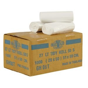 BIN LINERS WHITE 27 LITRE BOX 1000  (price excludes gst)