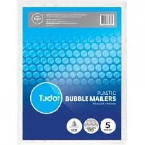 BUBBLE MAILER WHITE 304mm x 400mm Pack Of 5 (price excludes gst)