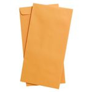 ENVELOPES GOLD 305 x 150 (PKT 25) (price excludes gst)