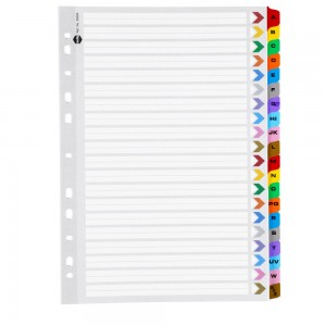 INDEX A4 MYLAR TABBED A-Z #35024 (price excludes GST)