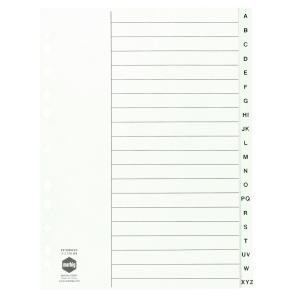 INDEX PP A4 A-Z WHITE #35051 (price excludes GST)