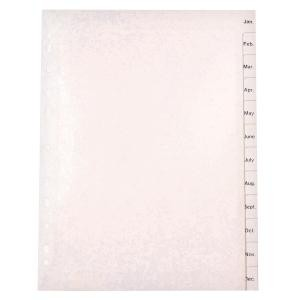 PVC DIVIDER A4 JAN-DEC WHITE #35052 (price excludes GST)