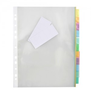 POCKET DIVIDER PP A4 10 TAB #35081 (price excludes GST)