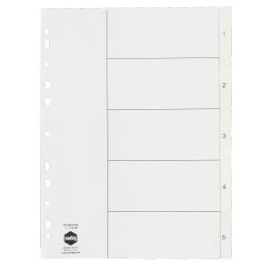 PVC DIVIDER A4 1-5 WHITE #35101 (price excludes GST)