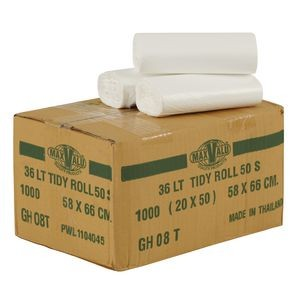 BIN LINERS WHITE 36 LITRE BOX 1000  (price excludes gst)