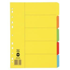 DIVIDER A4 5 TAB 5 COLOR BRIGHT BOARD #37100 (price excludes GST)