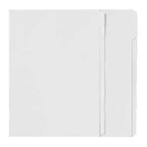 DIVIDER A4 5 TAB UNPUNCHED WHITE #37305 (price excludes GST)