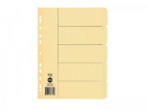 DIVIDER A4 5 TAB BUFF BOARD #37750 (price excludes GST)