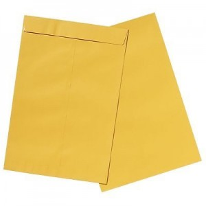 ENVELOPES GOLD 380 x 255 Peel-n-Seal Pkt 25 (price excludes gst)