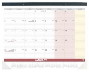 2021 DEBDEN 3901 DESK TOP PLANNER MONTH TO A VIEW
