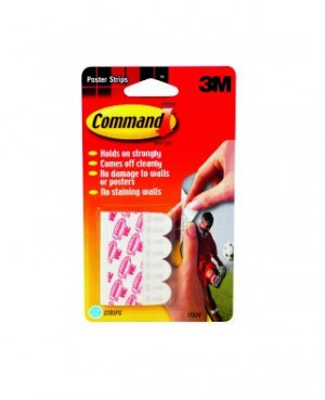 3M COMMAND ADHESIVE POSTER STRIP #17024