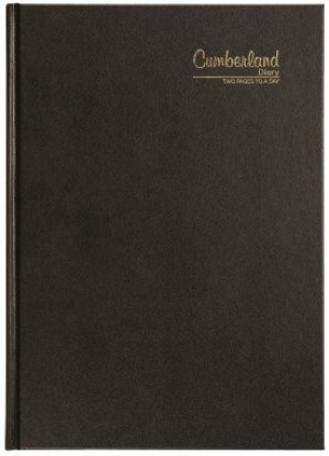 2021 CUMBERLAND 40CBK A4 2 PAGES TO A DAY BLACK