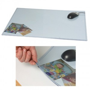 TRANSPARENT DESK PAD SMALL 390mm x 580mm #4174  (price excludes gst)