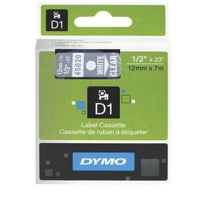 DYMO D1 LABEL TAPE 12mm 45013 BLACK ON WHITE