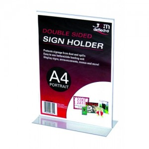 MENU/SIGN HOLDER A4 #47801  (price excludes gst)
