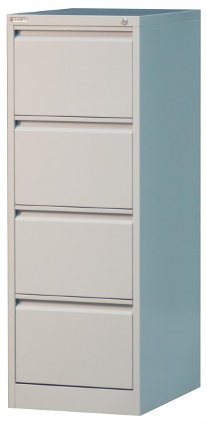 STRONGHOLD 4 DRAWER FILING CABINET SILVER GREY (price excludes gst)
